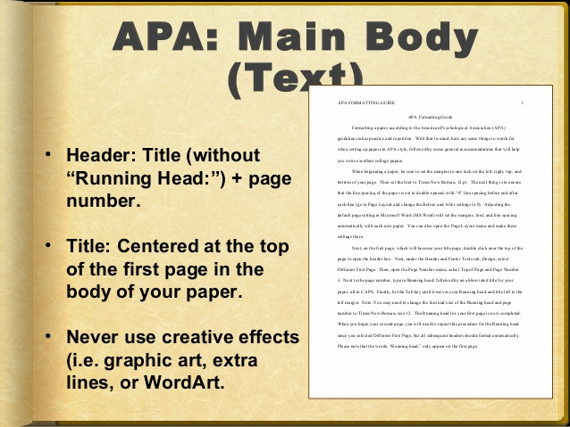 writing apa style research paper To begin with, a research paper in the apa style should have a standard format of double-spacing 12-point size, times new roman font in every page.