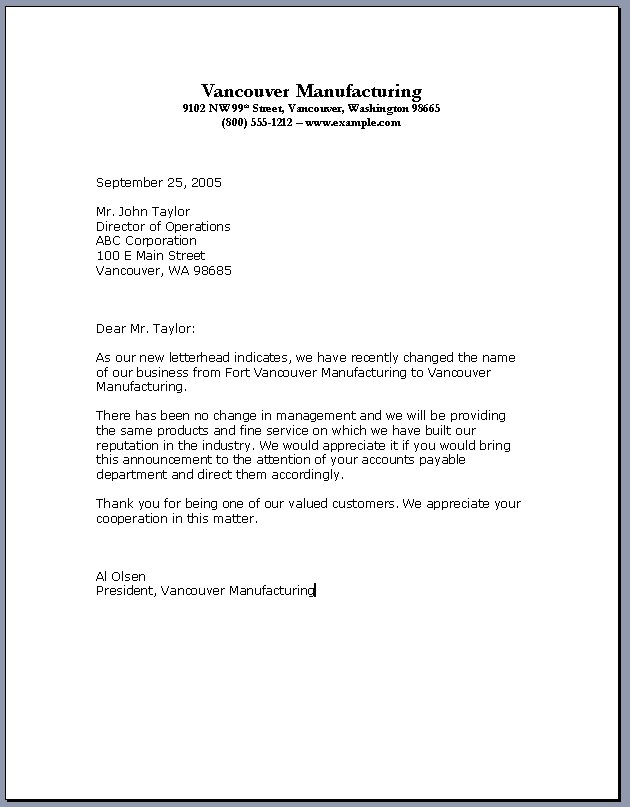 ... to Write the Professional Business Letter Template | RoiInvesting.com