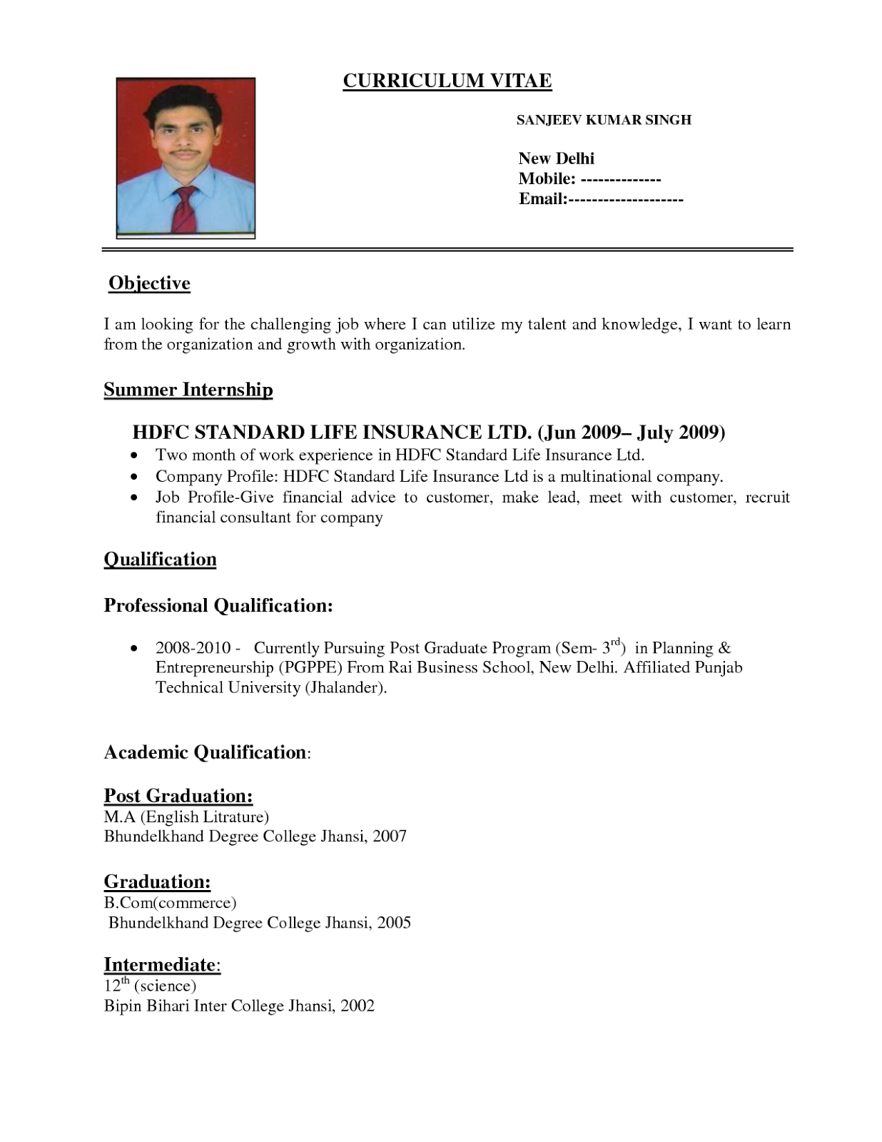 Funtional resume template
