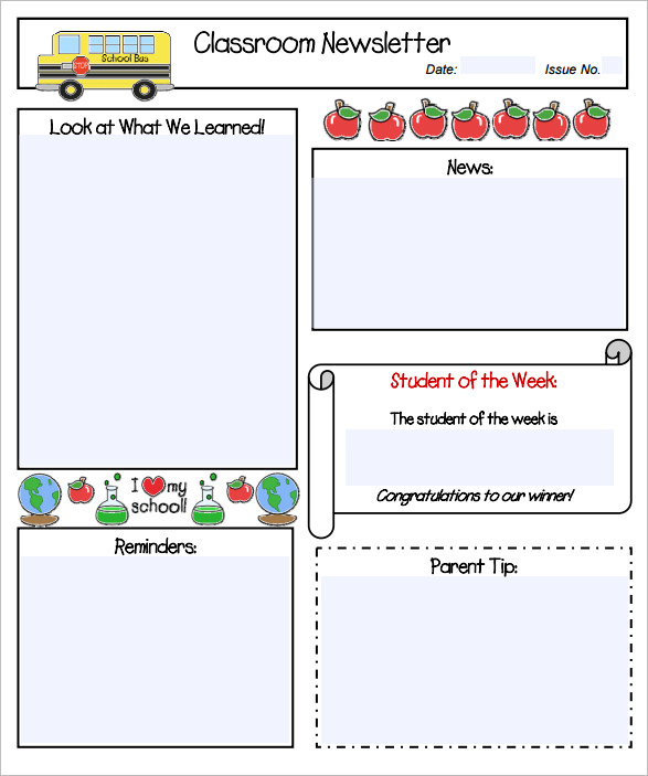 Strengthen The Communication With Classroom Newsletter