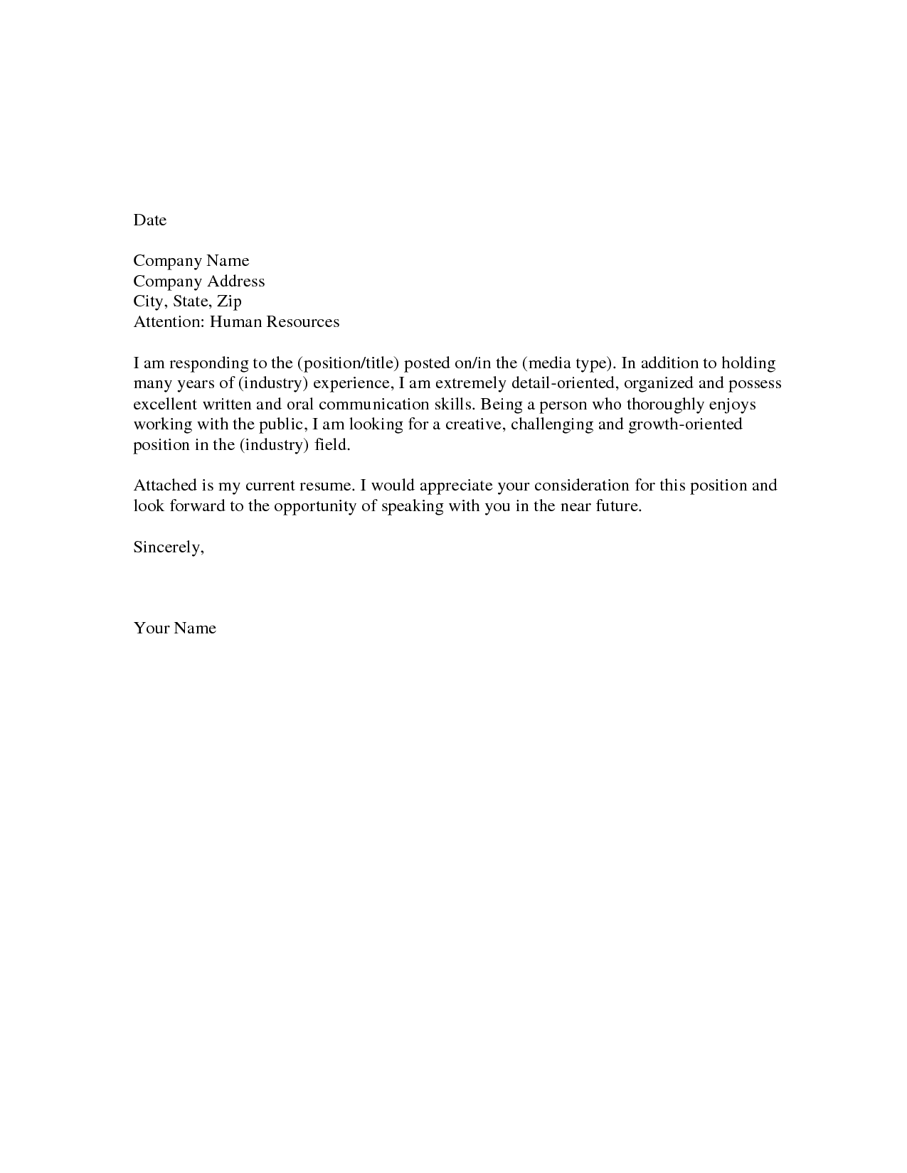 cover letter for resume 1png - Simple Resume Cover Letter Examples