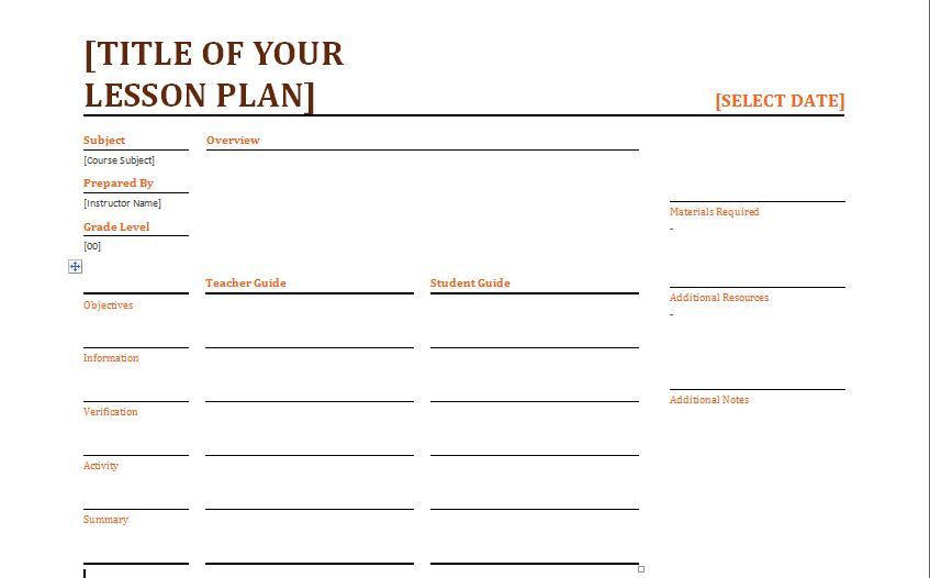 Lesson Plan Template Daily Insssrenterprisesco - Teaching lesson plan template