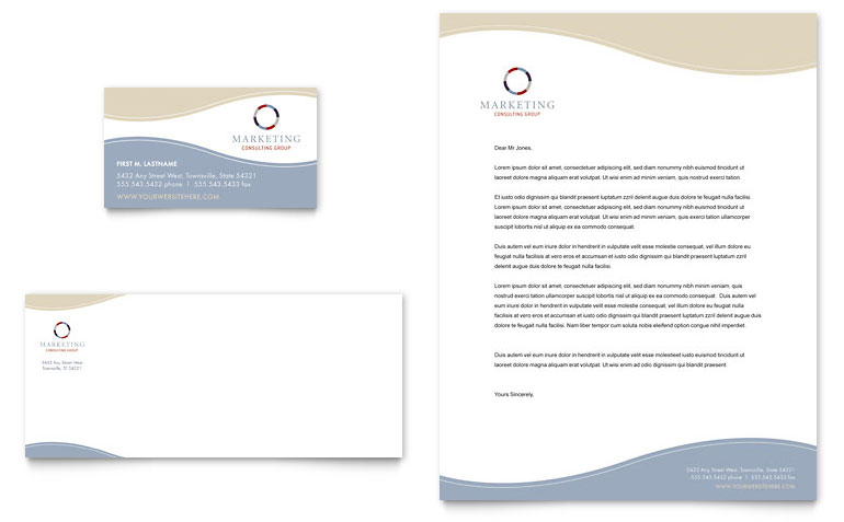 Word Business Letterhead Template  Free Business Stationery Templates For Word